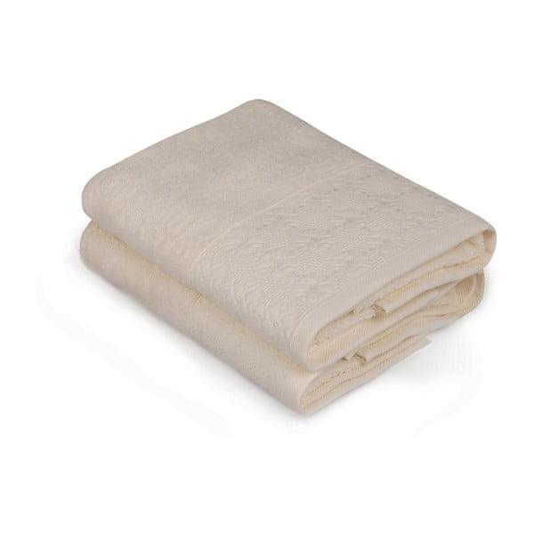 Sada dvoch uterákov v krémovej farbe Provence, 90 × 50 cm