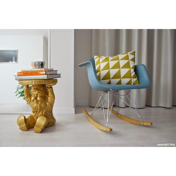 Taburetka/odkladací stolík Trpaslík Napoleon, zlatá