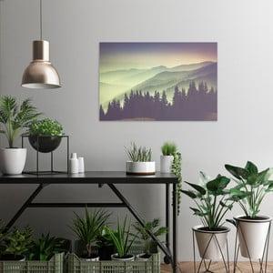 Obraz na plátne OrangeWallz Misty Mountain, 60 x 90 cm