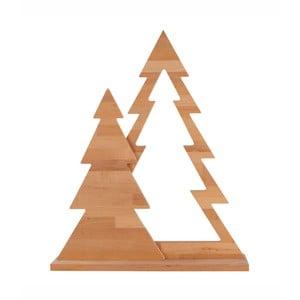 Dekorácia z jelšového dreva Nørdifra Duo Xmas, výška 105 cm
