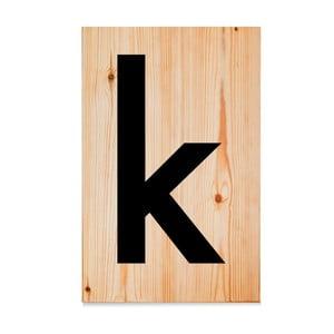 Drevená ceduľa Letters K