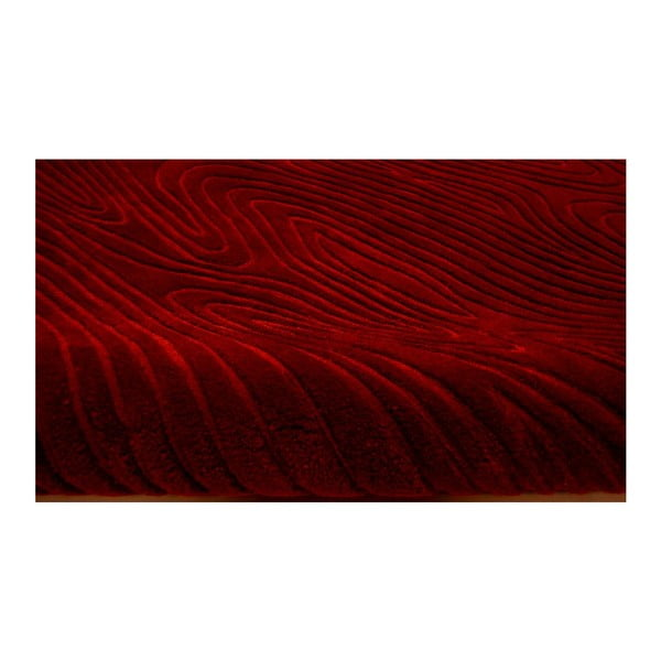 Ručne tkaný koberec Zen, 70x140 cm, červený