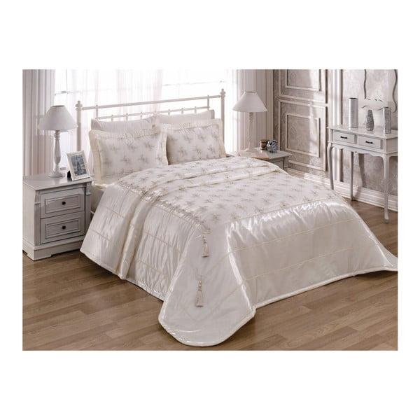 Pléd cez posteľ na dvojlôžko s obliečkami na vankúše Dream, 260 x 260 cm