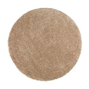 Béžový kulatý koberec Universal Aqua, ø100cm