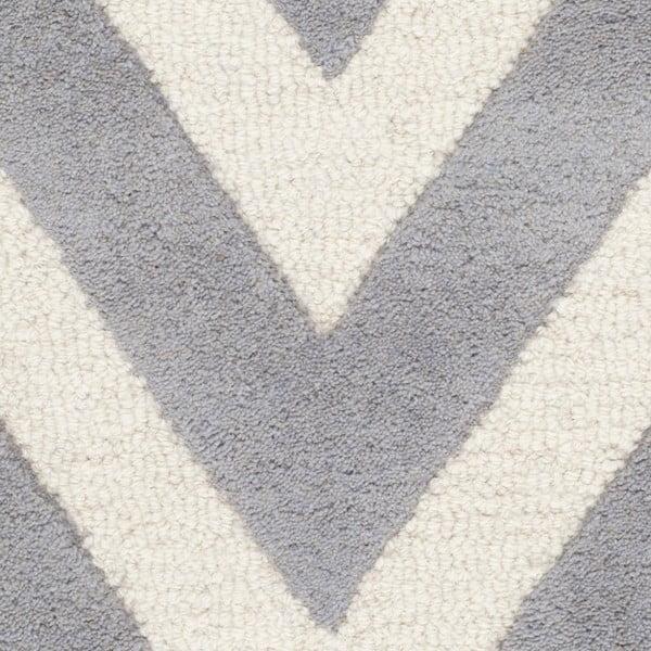 Vlnený koberec Stella Grey, 91x152 cm