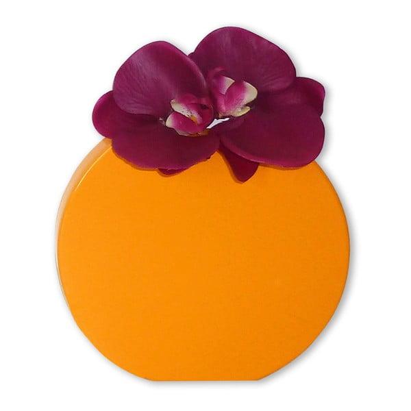 Nástenná váza Vanity Round Yellow