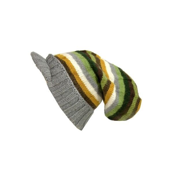 Vlnená čiapka so šiltom Bob Marley