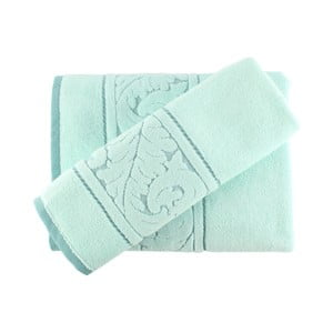 Set mentolovozeleného bavlneného uteráka a osušky Sultan
