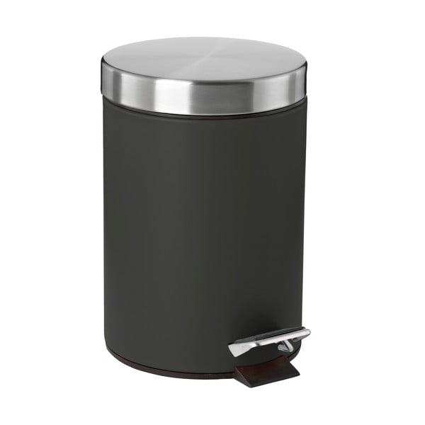 Čierny pedálový odpadkový kôš Confetti, 3 l