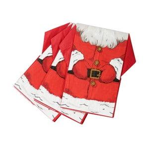 Sada 16 papierových obrúskov Talking Tables Sparkling Santa