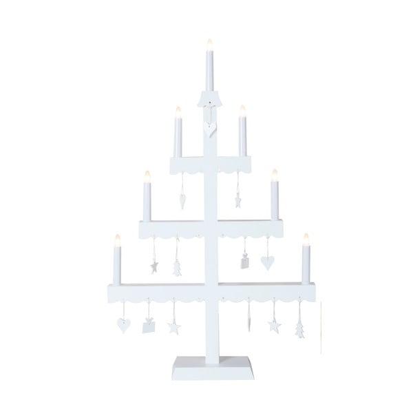 Svietnik s LED svetielkami Dingla, biely