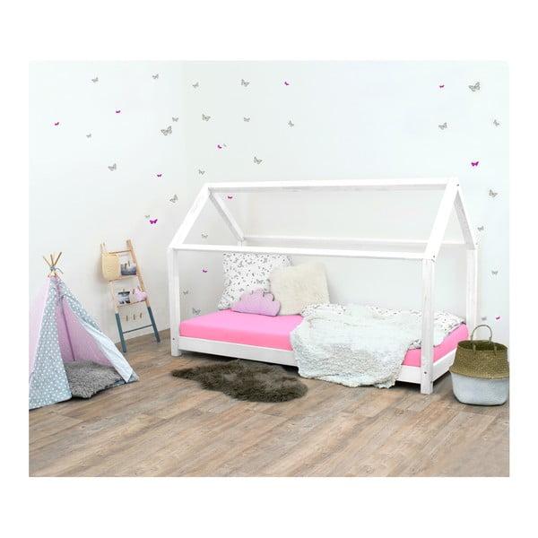 Biela detská posteľ bez bočníc zo smrekového dreva Benlemi Tery, 120×200 cm