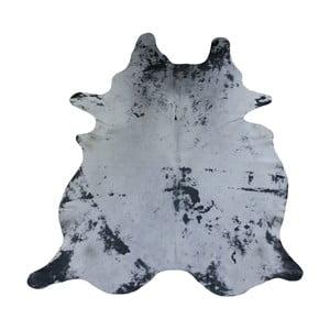 Sivý koberec z hovädzej kože, 231 x 194 cm