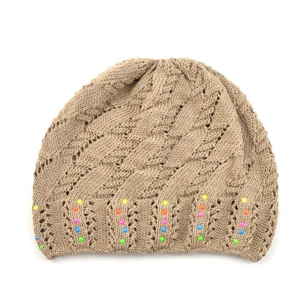 Dievčenská čapica Cuki, svetlohnedá