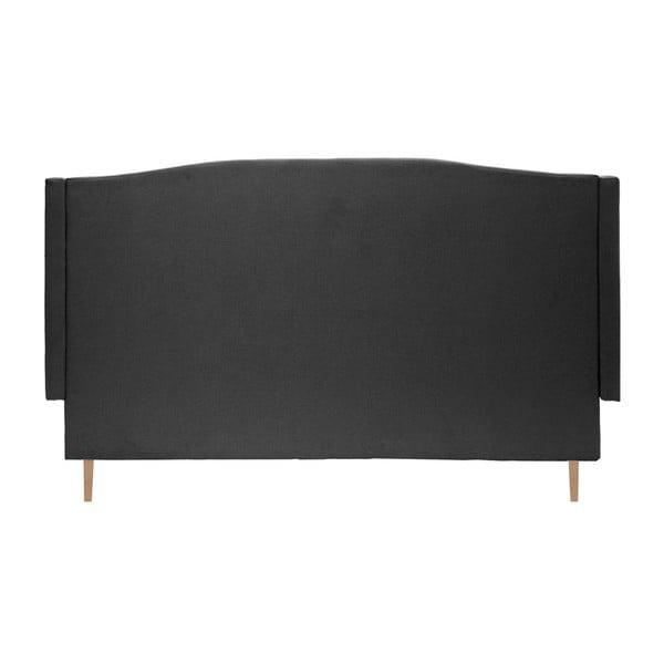 Čierna posteľ VIVONITA Windsor 140x200cm, svetlé nohy