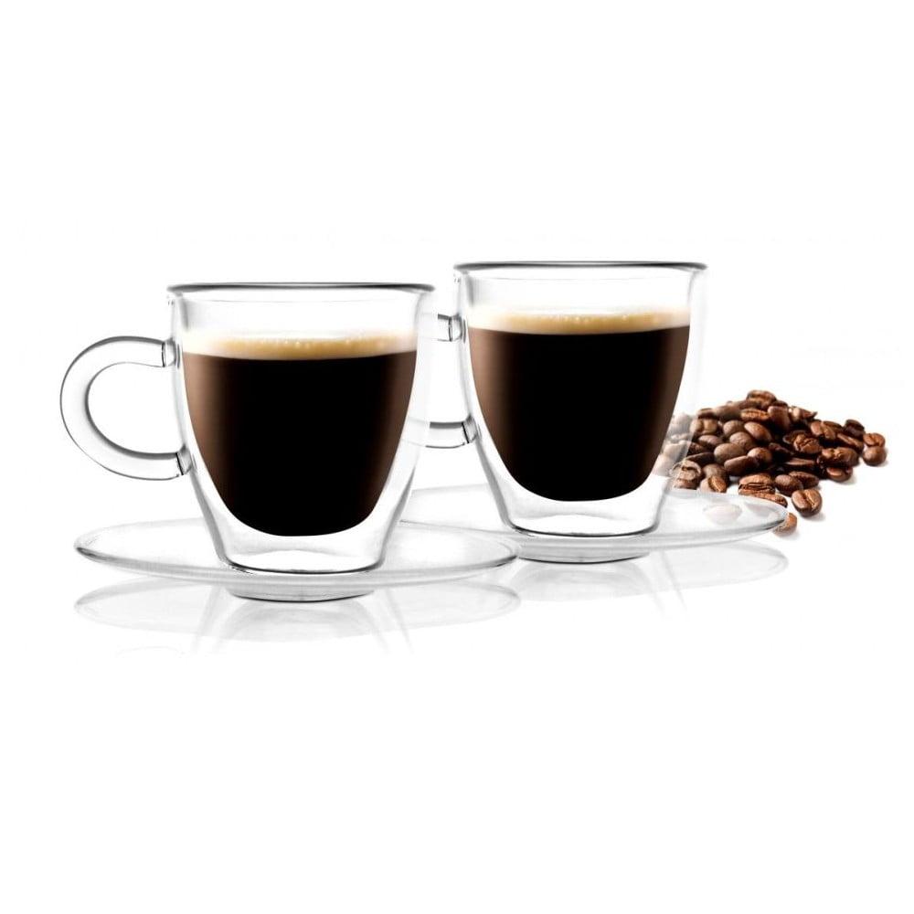 Sada 2 dvojstenných hrnčekov Vialli Design Amo Espresso, 50 ml