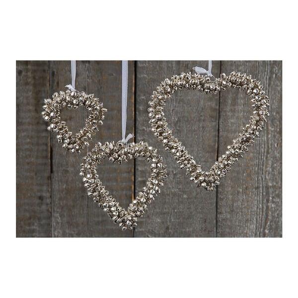 Sada 3 závesných dekorácií Boltze Hearts