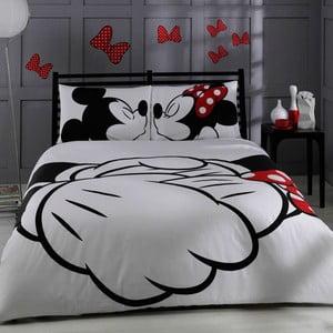 Bavlnené obliečky s plachtou na dvojlôžko TAC Mickey, 200 x 220 cm