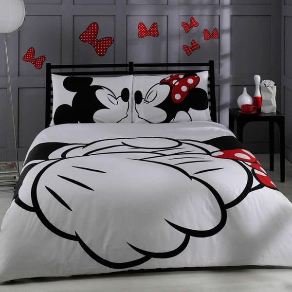 Bavlnené obliečky s plachtou na dvojlôžko TAC Mickey, 200×220cm