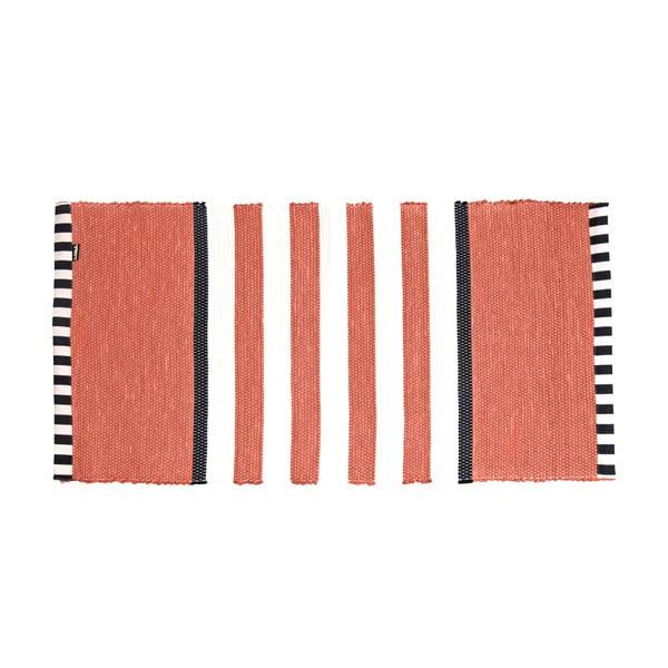 Koberec Lona Stripes 130x65 cm, červený