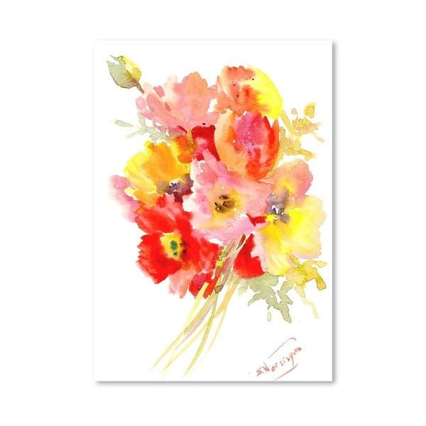 Plagát Red Flowers od Suren Nersisyan