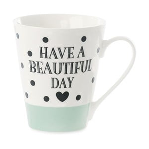 Porcelánový hrnček Miss Étoile Coffee Have A Beautiful Day