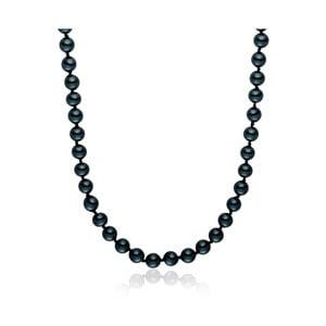 Modrý perlový náhrdelník Pearls Of London, 42 cm