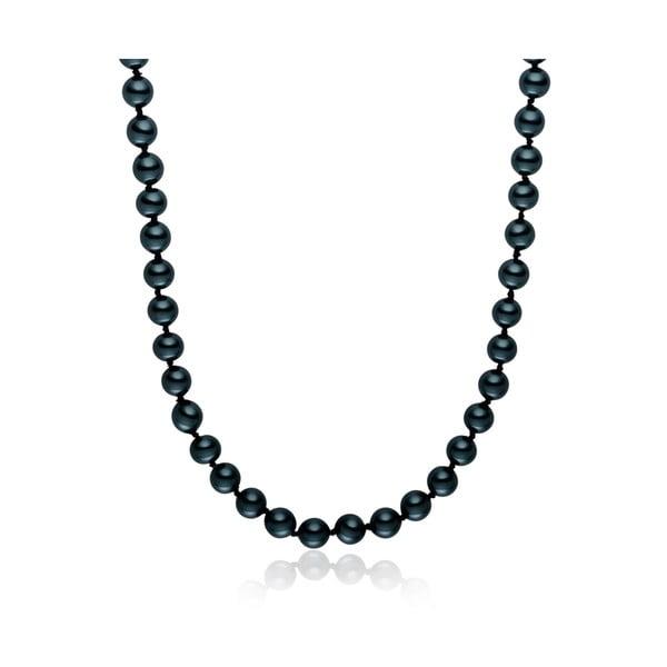 Modrý perlový náhrdelník Pearls Of London, 50 cm