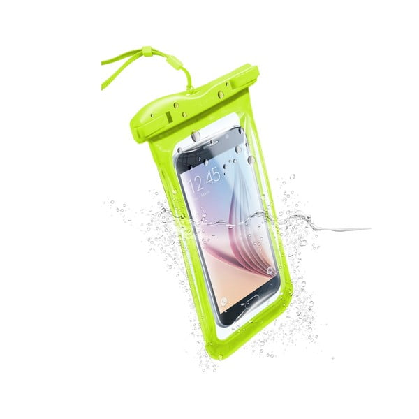 Vodoodolné univerzálne puzdro Cellularline VOYAGER, limetkové