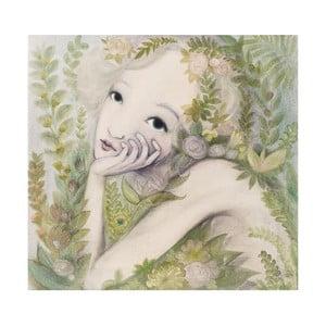 Autorský plagát od Lény Brauner Kvetinová víla, 60x67 cm