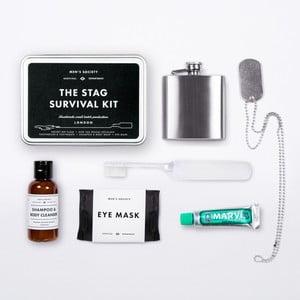 Cestovná hygienické sada s ploskačku Men's Society Stag Survival
