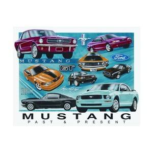 Plechová ceduľa Mustang, 30x40 cm