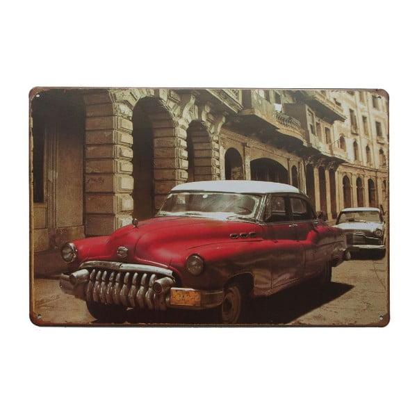 Ceduľa Cuban Car, 20x30 cm
