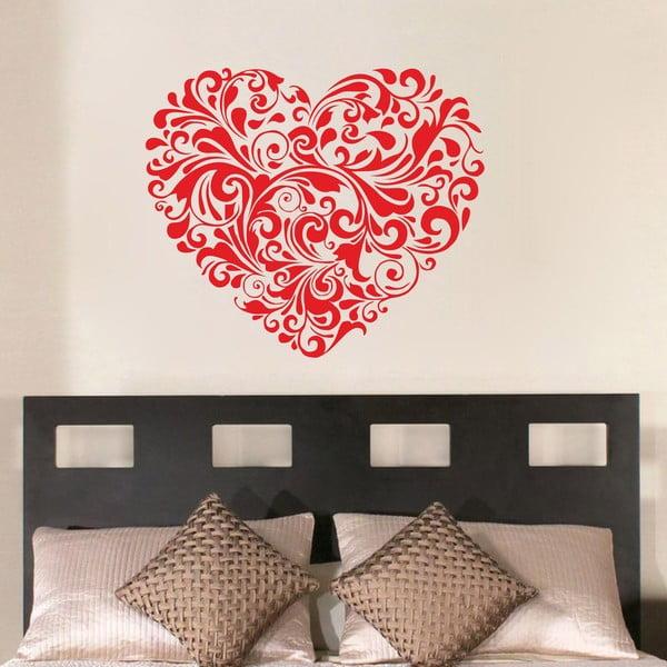 Dekoratívna nástenná samolepka Red Heart