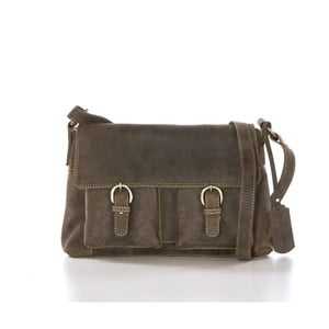 Hnedá kožená kabelka Gianni Conti Hilaria
