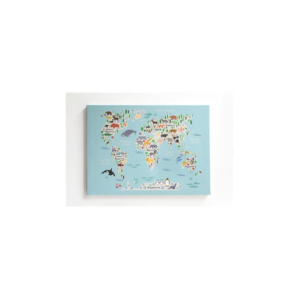 Obraz na plátne Little Nice Things Mapamundi, 50 × 70 cm