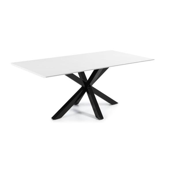 Jedálenský stôl Arya, 200x100cm, čierne lakované nohy