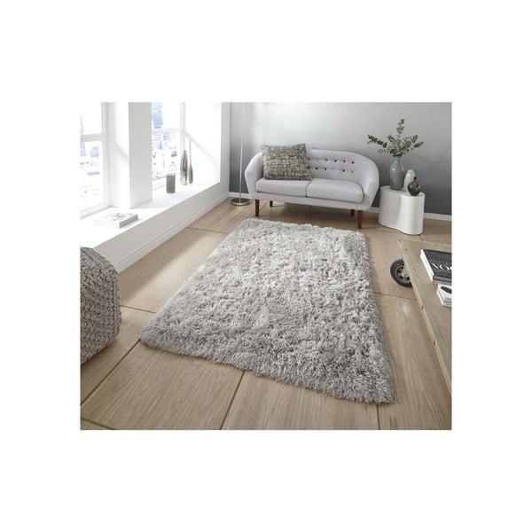 Svetlosivý ručne tuftovaný koberec Think Rugs Polar PL Light Grey, 60×120 cm