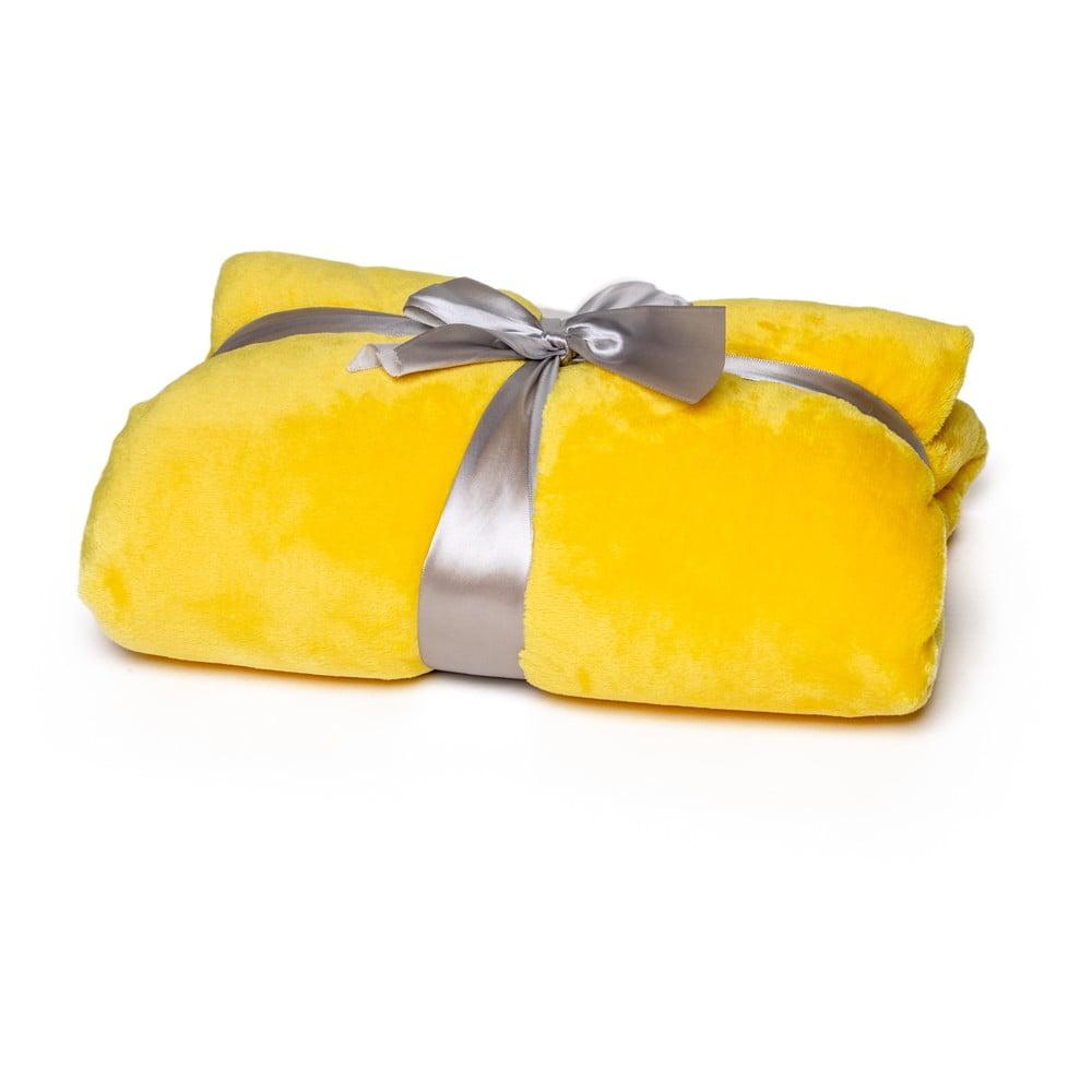 Žltá deka Tarami, 200 × 150 cm
