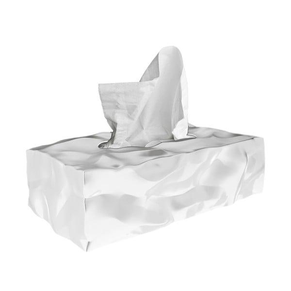 Biely box na vreckovky Wipy II White