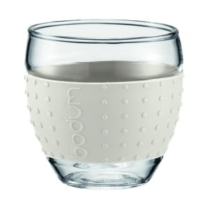 Sada 2 pohárov Pavina Small, biely prúžok