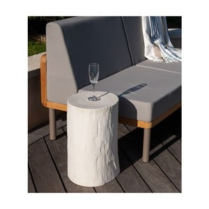 Biela záhradná stolička v dekore dreva Ezeis Ecotop