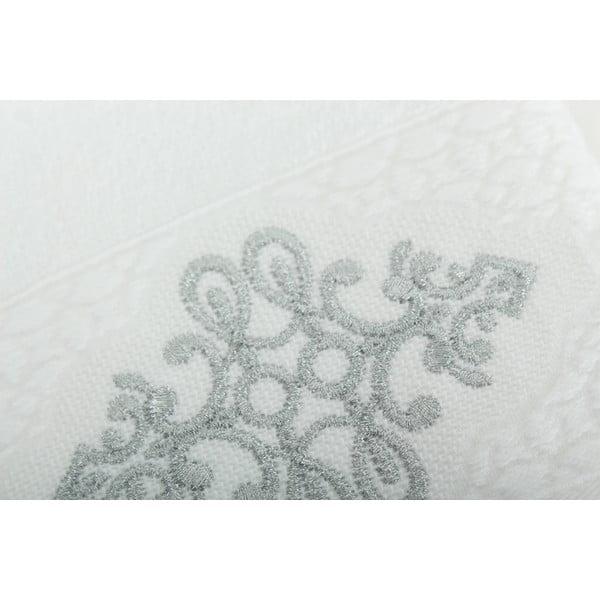 Sada 2 uterákov Isle White Silver, 30x50 cm/50x90 cm