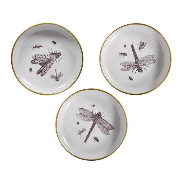 Sada 3 dekoratívnych tanierov WOOOD Insect