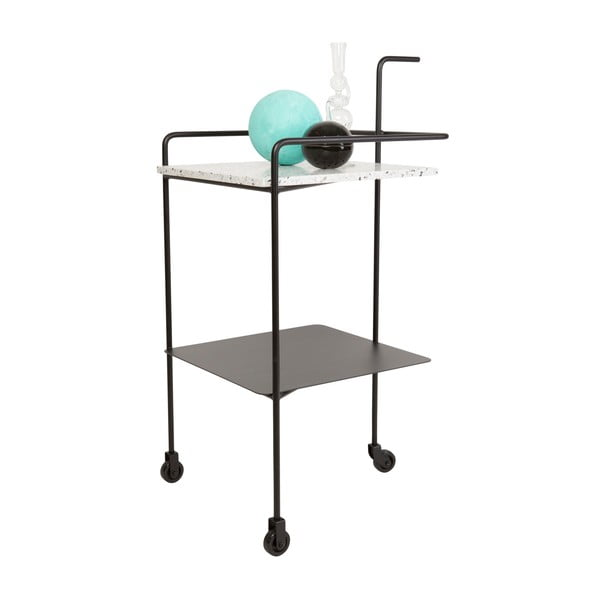 Servírovací stolík Trolley Confetti,čierny