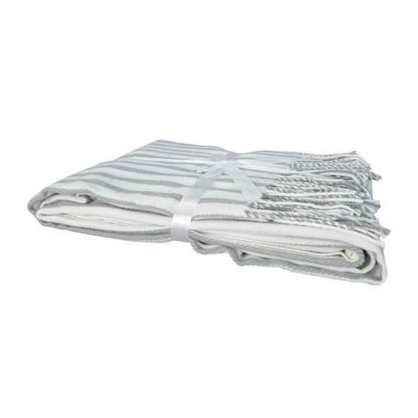 Pléd Lines 130 x 150 cm, sivo-biely