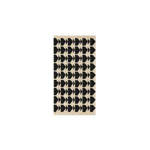 Vlnený koberec Oslo no.1, 140x200 cm, čierny