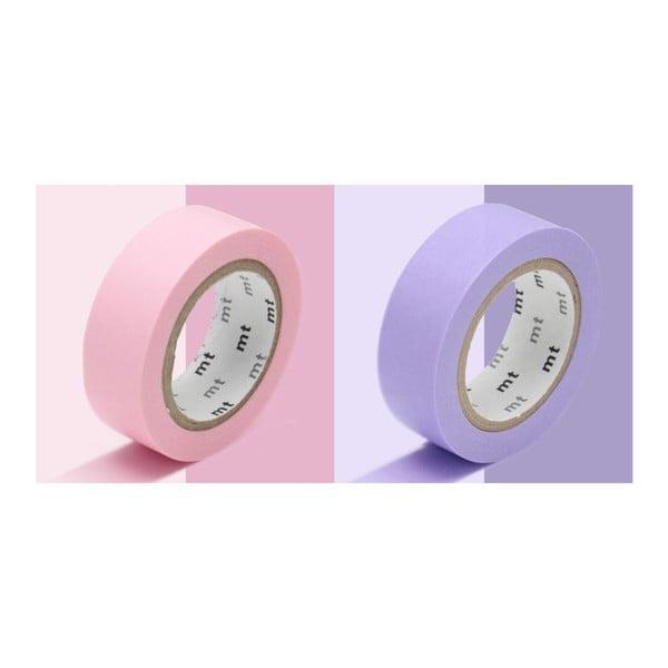 Sada 2 washi pások Uni Rose Lavender
