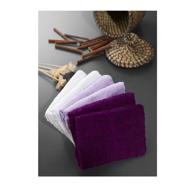 Sada 6 uterákov Hill Purple, 30x30 cm