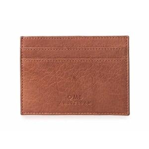 Hnedé kožené puzdro na karty a vizitky O My Bag Mark´s